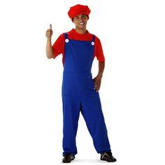 Super Loodgieter Rood Kostuum Volwassenen.
