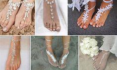 calzados de bodas en la playa