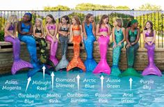 Mermaid tails for swimming!  The girls will love this!!