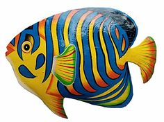 Hand-chiseled and Painted Tropical Metal Art Wall Decor Fish: x Handmade metal fish wall art. Item has weather proof coating. Item comes with wall hanger on the back. Fish Wall Decor, Fish Wall Art, Fish Art, Wall Art Decor, Turtle Painting, Pebble Painting, Stencil Painting, Pebble Art, Nautical Wall Art