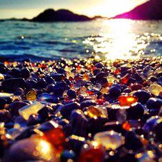 Diamonds in the Rough...Fort Bragg Sea Glass Beach