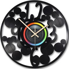 Bubbles Vinyl Clock