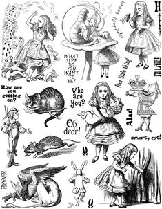 alice in wonderland.  The illustrations in the book were kind of scary to me as a kid. They still are a little scary!