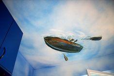 Klaus-Martin Grebe   Illusionsmalerei, Wandmalerei, Deckenmalerei… z.B. in einer Kinderarztpraxis