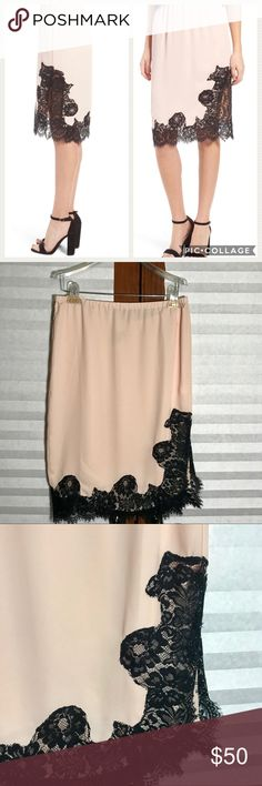 NWOT Chelsea28 Lace Midi Skirt NWOT Chelsea28 (Nordstrom Brand) Lace Midi Skirt  Romantic midi skirt that falls just below the knees The Small I have better fits a Medium The Medium I have better fits a Large Chelsea28 Skirts Midi