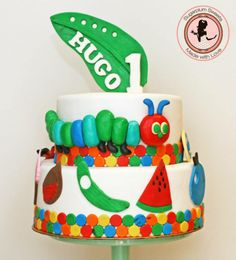 The Very Hungry Caterpillar Birthday Cake by Sugarplum Sweets, Perth, Western Australia. You'll find this Cake Appreciation Society Member in our Directory at www.cakeappreciationsociety.com
