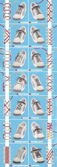 DIY shoe lace design. Try it out on a pair of your #OnitsukaTigers!
