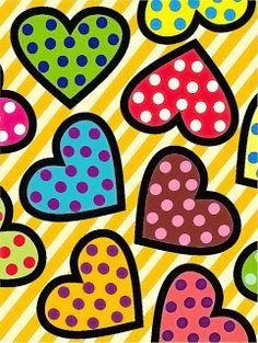 Arte Pop, Valentines Art, Heart Wallpaper, Heart Art, Art Plastique, Wall Collage, Art Lessons, Scrapbook Paper, Painted Rocks