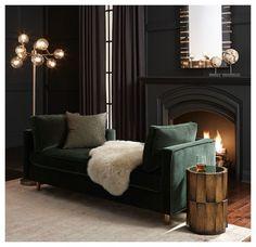 #velvet green - sofà - living - Come arredare un salotto in velluto, la tendenza dell'autunno inverno 2016/2017. Divani di velluto per tutti i gusti. Lasciati ispirare e arreda con stile.