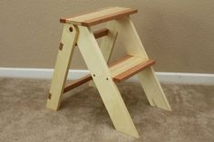 Wooden Folding Step Stool- My husband built this for his Step-Mom.