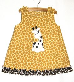 Girls Giraffe  Aline Jumper Dress  for Baby by FairyTaleFrocks, $42.00