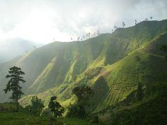 Beautiful green mountains in Haiti - Imgur