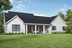 Plan Single-story Split-Bed Modern Farmhouse with Optional Bonus Room House Plans And More, Best House Plans, House Floor Plans, Modern Farmhouse Plans, Farmhouse Style, Farmhouse Decor, Style At Home, Contemporary House Plans, Ranch House Plans