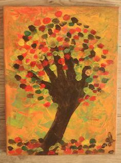 Acrylbild auf Leinwand/ Keilrahmen - Herbst - 40 x 30 cm in Antiquitäten & Kunst, Direkt vom Künstler, Malerei   eBay!