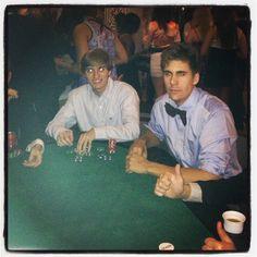 Thompson House: Mattias and Sam hoarding some chips at Casino Night!