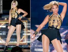 Beyonce Knowles' Multiple Costume Changes At V Festival