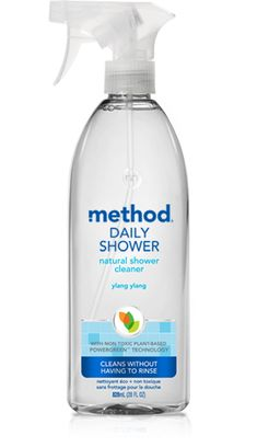 with our daily shower spray, you'll never have to scrub, wipe or rinse your shower again. just spray a fine mist on all wet surfaces after each shower and we'll take care of the rest. daily shower cleaner: ylang ylang scent.