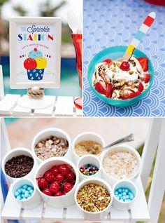 ice cream sundae bar topping ideas & sign