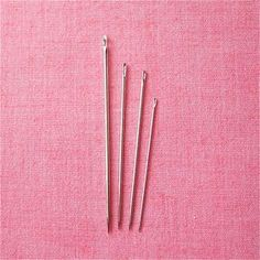 Sharps are good general-purpose sewing needles. If you only buy one kind of sewing needle, make it a sharp. The five basic types of needles and their descriptions.