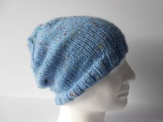 Adult Beanie Hat.  Slouchy Men's Hat. Guy's Beanie by AluraCrafts