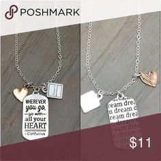 "3/$20 - Wherever You Go Message Necklace 14-16"" #JEWELRY #POSHMARK #BLING #RODEO #FASHIONISTA #COWGIRL #SOUTHWEST #ARIAT #AZTEC #WESTERN #CHIC #FAITH #RUNWAY #CROSS #TRIBAL #BOHO  #NAVAJO #STELLA  #SOUTHERN #SPARKLE #CHIC 💞💞 Jewelry Necklaces"
