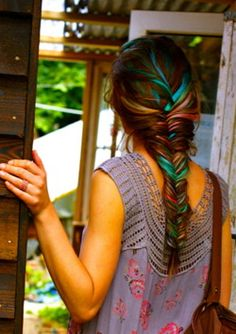If I could pull off multi-colored hair, I would.