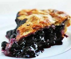 Oven baked blueberry pie.Excellent dessert recipe with blueberries,tapioca,cinnamon and lemon juice.