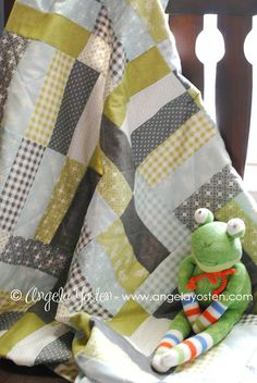 Jelly Roll Jam Quilts by @Ann Toombs Quarter Shop made with #Flats from @ModaFabrics by @Angela Gray Yosten http://www.angelayosten.com
