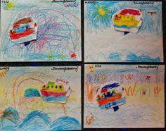 beweegtekening bootje op stokje op zee: golf snijden Diy For Kids, Crafts For Kids, Arts And Crafts, Kids House, Waldorf Kindergarten, School Projects, Storytelling, Activities For Kids, Teaching