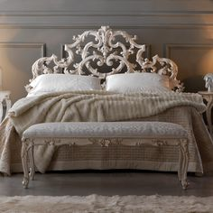 Ornate Rococo Reproduction Italian Storage Bed (44.220 RON) ❤ liked on Polyvore featuring home, furniture, beds, storage bed, ornate beds, ornate furniture, home storage furniture and storage furniture