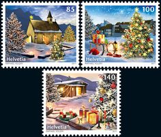 Swiss Christmas Stamps, 2011