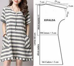 Simple Dresses, Dresses For Work, Summer Dresses, Dress Sewing Patterns, Sewing Patterns Free, Kaftan Pattern, Costura Fashion, Simple Dress Pattern, Fashion Sewing