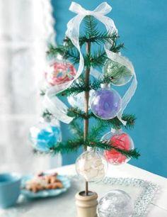 Making Christmas Ornaments with Ribbon