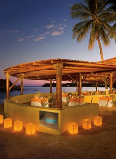 Have your reception at the Oceana Restaurant #DreamsHuatulco #Mexico #Destinationwedding
