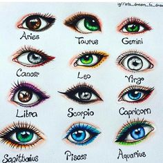"""Laura Mary """"I drew the signs as eyes Double tap yours and comment if your eye is like your sign❤Hope you like it☺"""" 2020 homme ideal ideal sternzeichen verseau vierge zodiaque Zodiac Signs Chart, Zodiac Signs Sagittarius, Zodiac Star Signs, My Zodiac Sign, Astrology Zodiac, Taurus, Astrology Numerology, Numerology Chart, Cancer Zodiac Art"""