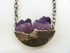 Unearthed Amethyst Pendant by LPJewelryDesigns on Etsy #handmade #etsyshop #jewelry