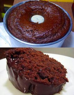 Bolo de chocolate fácil e delicioso Clique duas vezes na foto para ver a receita completa # Sweet Recipes, Cake Recipes, Snack Recipes, Dessert Recipes, Food Cakes, Cupcake Cakes, Cupcakes, Easy Smoothie Recipes, Coconut Recipes