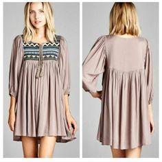 I just added this to my closet on Poshmark: Sexy Taupe Khaki Boho DressNWT. Price: $45 Size: M