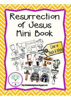 This simple Resurrection of Jesus Mini Book Freebie is easy to print and use! This can be printed in color and black & white.