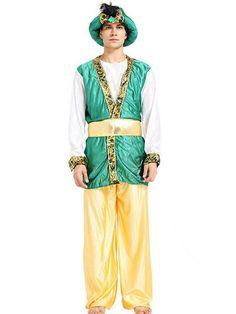 #Milanoo.com - #milanoo.com Halloween Arabian Costume Menu0027s Green Outfit Asian  sc 1 st  Pinterest & Milanoo.com - #milanoo.com Halloween Arabian Costume Womenu0027s Outfit ...