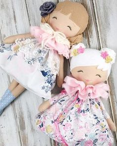 Beautiful SpunCandy Handmade Dolls