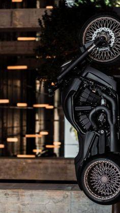 Custom Motorcycles, Custom Bikes, Ninja Motorcycle, Harley Davidson V Rod, Best Luxury Cars, Art Model, Bobber, Motorbikes, Building