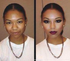 The power of makeup before and after bea. - The power of makeup before and after beauty - Power Of Makeup, Love Makeup, Makeup Tips, Makeup Looks, Black Makeup, Amazing Makeup, Crazy Makeup, Gorgeous Makeup, Beauty Make-up