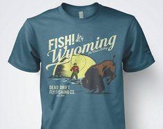 Fishing T shirt Colorado Fishing Flag Fly Fishing by DeadDrift