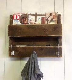 Salvaged Wood Coat Rack & Shelf