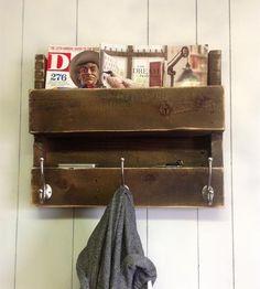 Salvaged Wood Coat Rack & Shelf