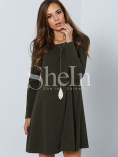 Shop Dark Green Long Sleeve Designer Casual Dress online. SheIn offers Dark Green Long Sleeve Designer Casual Dress & more to fit your fashionable needs.