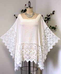New Dare2bstylish Designer Plus size Lace Poncho by Dare2bStylish