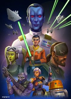 Star Wars Rebels and wanted to draw up Drew Struzan style poster for the series. Those original Star Wars posters of his are some of my favourites in his incredible body of work.