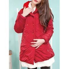Stylish Turn-Down Collar Spliced Double-Breasted Long Sleeve Maternity Women's Coat Maternity Coat, Coats For Women, Double Breasted, Sportswear, Costumes, Formal, Stylish, Long Sleeve, Casual